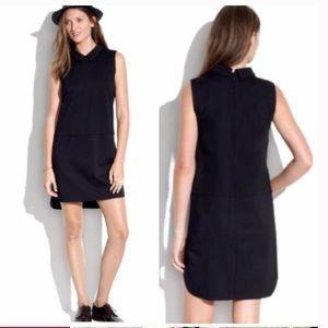 Madewell black shirt tail collar dress Medium